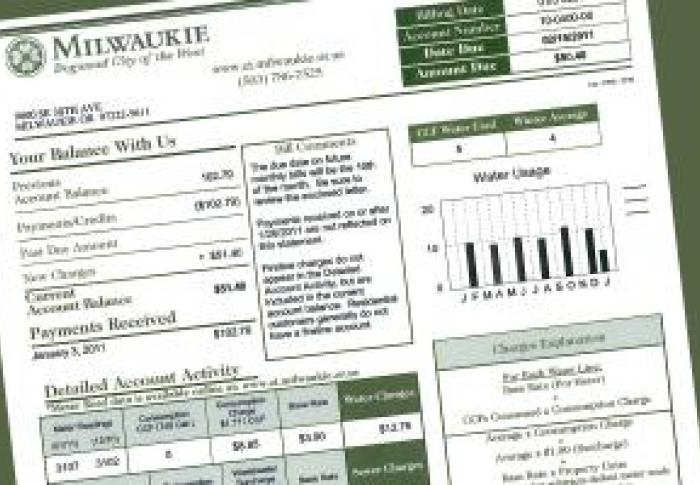 Utility Billing | City of Milwaukie Oregon Official Website