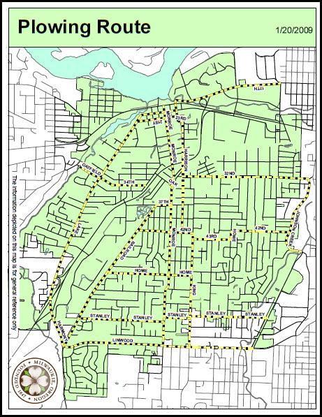 Plowing Map City of Milwaukie Oregon Official Website